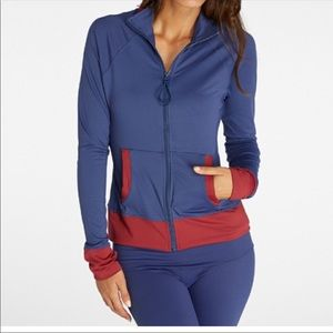 Threads 4 Thought Athletic Jacket Full Zip Up Blue